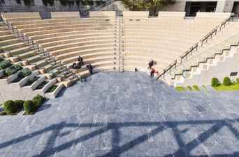 ampitheatre architecture open air people